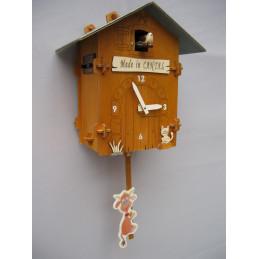 Horloge bois - FLORIS 4 rayons - kit à monter