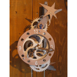 Horloge bois - FLORIS Lune-...