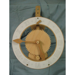 Horloge bois - FLORIS roue...