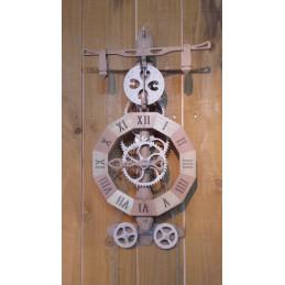 Horloge bois à foliot -...